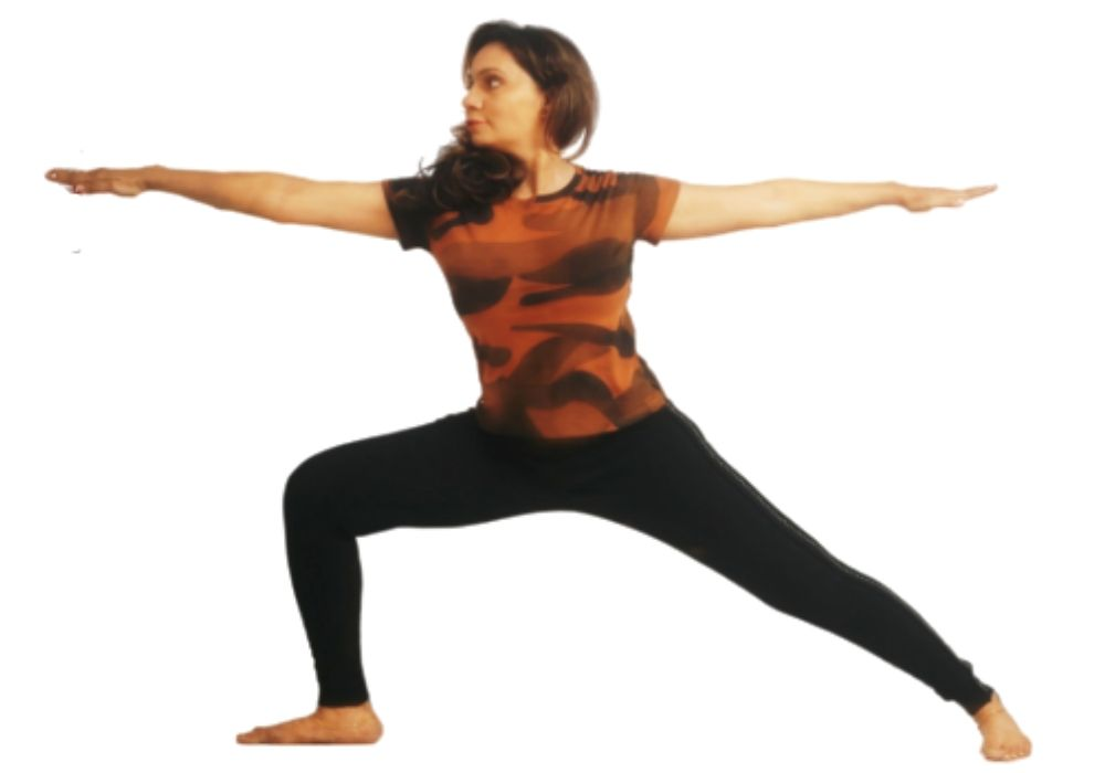 a woman showing one of the most popular styles of yoga at yoga classes in thane
