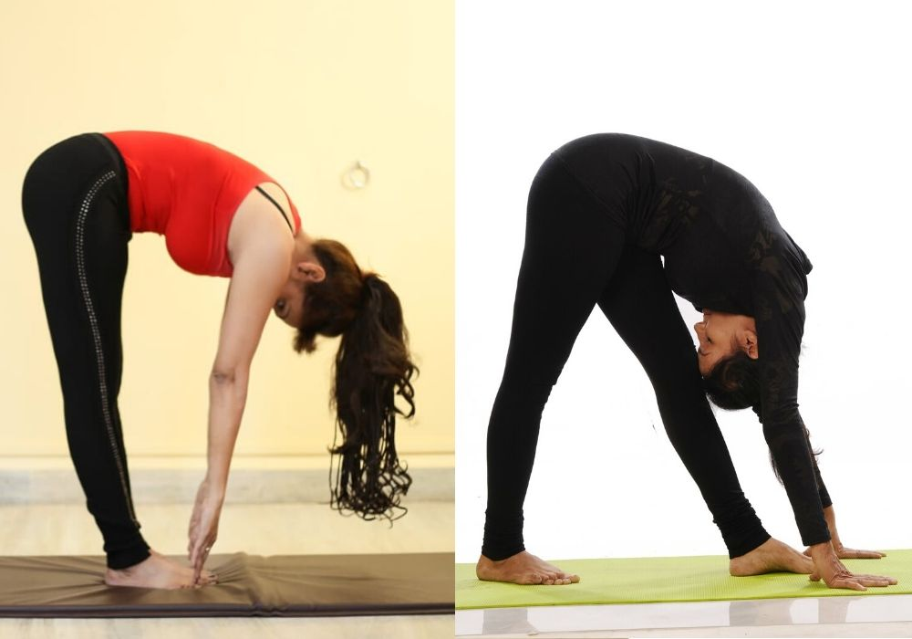 yoga for beginners- Hastapadasana at shwet yoga classes and courses in thane west