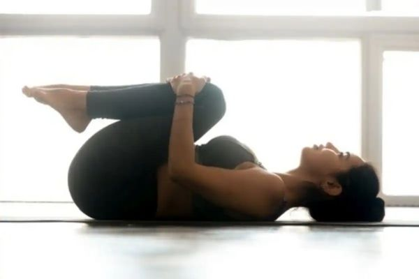 Yoga asanas for summer immunity - wind relieving pose at shwet yoga classes in thane west