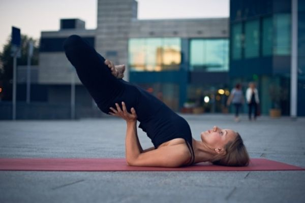 Yoga posture - padma sarvangasana at shwet yoga classes in thane west