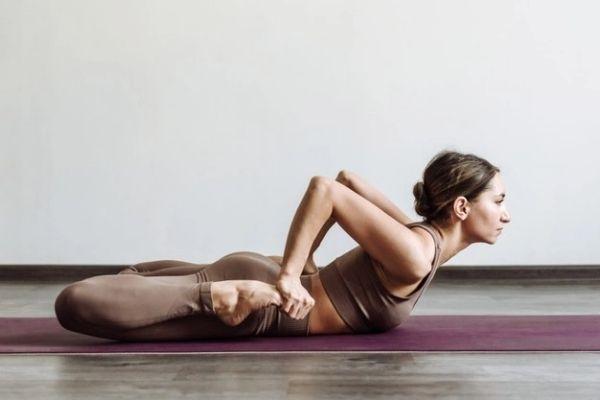 Yoga posture - Mandukasana at shwet yoga classes in thane west