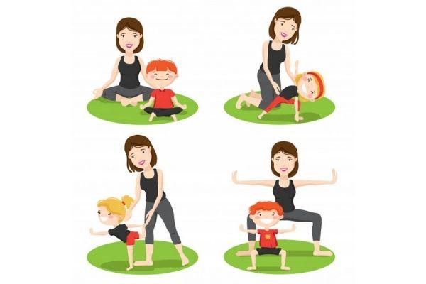 kids yoga class in thane west shwet yoga